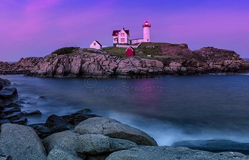 Twilight At Nubble Lighthouse
